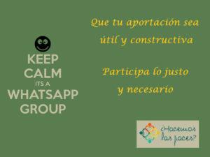 Cómo se debería participar en un grupo de whatsapp